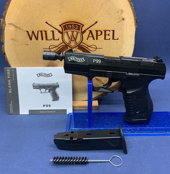 WALTHER Gaspistole (SRS) P99 schwarz (brüniert)